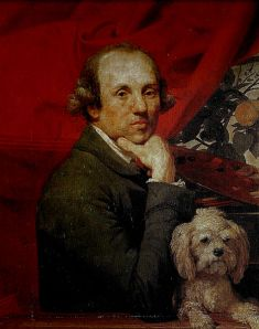 JohannZoffany with dog, Roma
